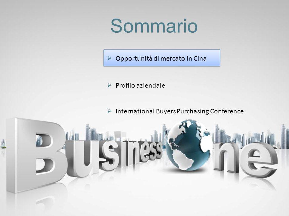 Sommario Profilo aziendale International Buyers Purchasing Conference Opportunità di mercato in Cina