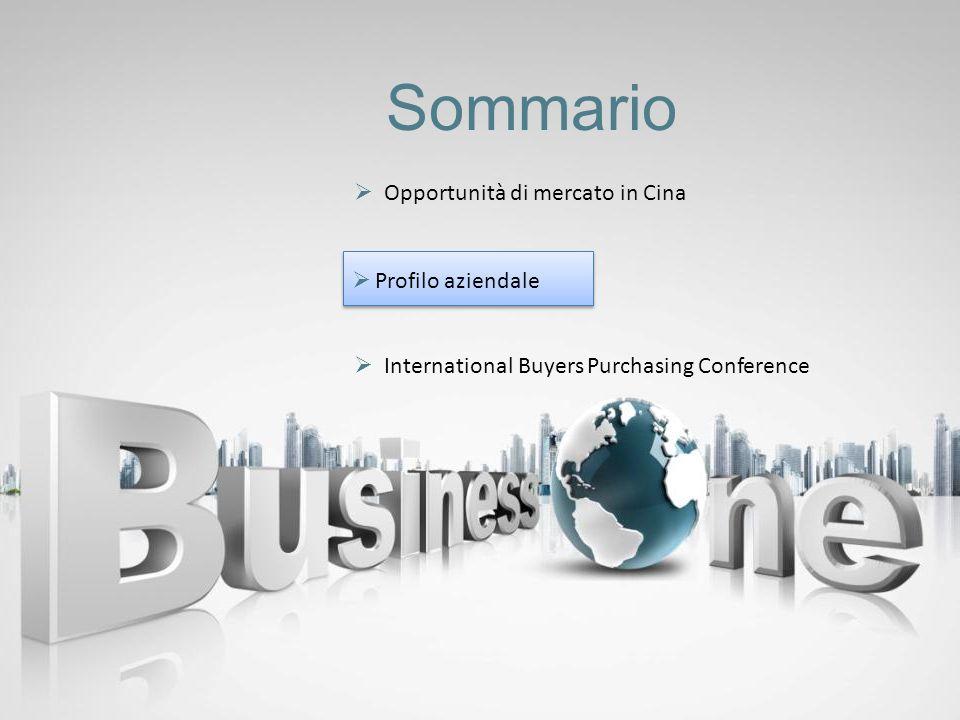 Sommario Opportunità di mercato in Cina International Buyers Purchasing Conference Profilo aziendale