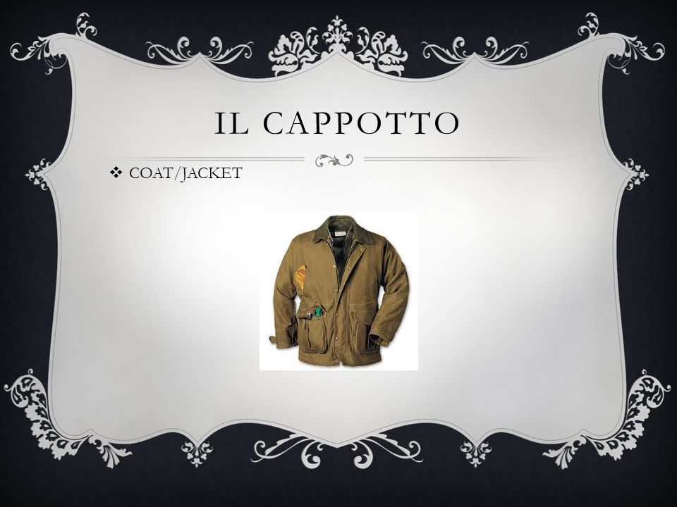 IL CAPPOTTO COAT/JACKET