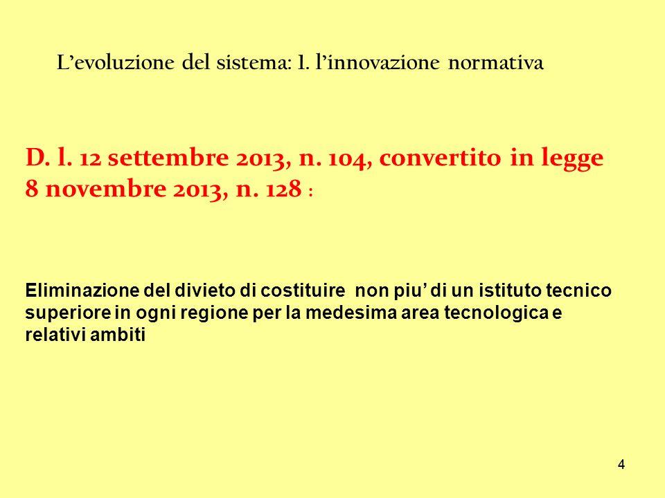 44 Levoluzione del sistema: 1.linnovazione normativa D.