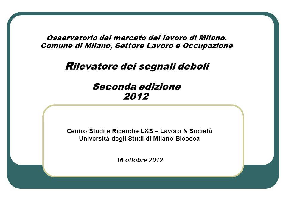 Osservatorio del mercato del lavoro di Milano.