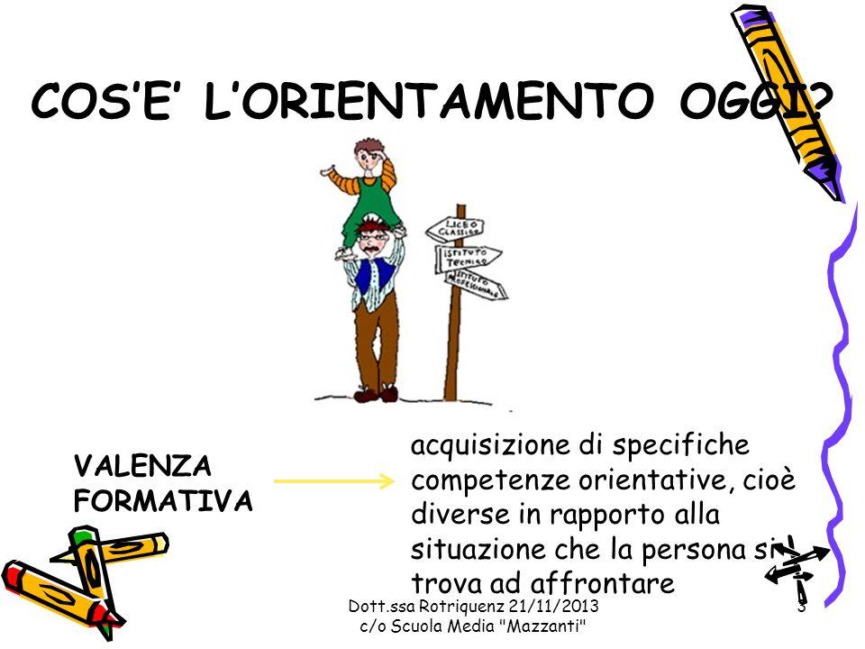 Dott.ssa Rotriquenz 21/11/2013 c/o Scuola Media Mazzanti ISTITUTI TECNICO: SETTORE TECNOLOGICO a Firenze Firenze - I.