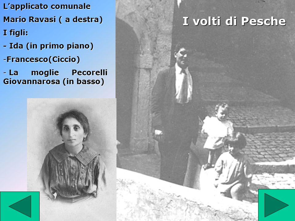 Lapplicato comunale Mario Ravasi ( a destra) I figli: - Ida (in primo piano) -Francesco(Ciccio) - La moglie Pecorelli Giovannarosa (in basso) I volti