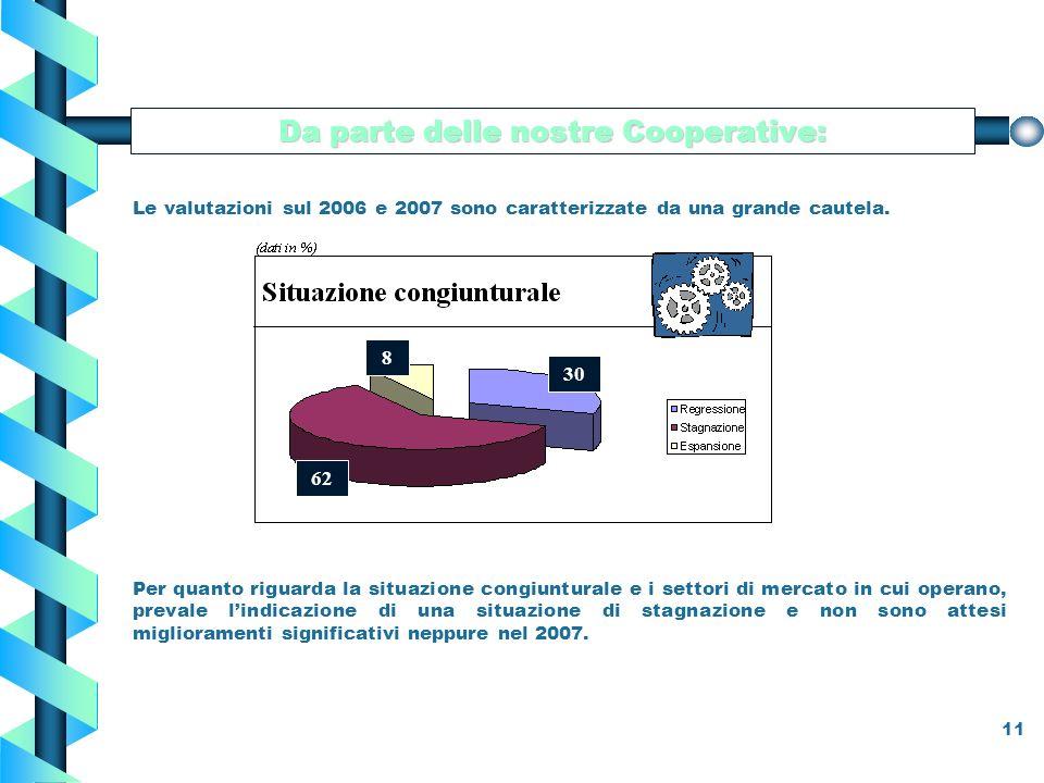 11 Da parte delle nostre Cooperative: Le valutazioni sul 2006 e 2007 sono caratterizzate da una grande cautela.