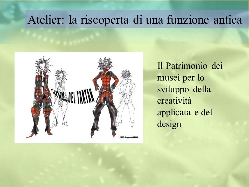 Il Patrimonio dei musei per lo sviluppo della creatività applicata e del design Atelier: la riscoperta di una funzione antica