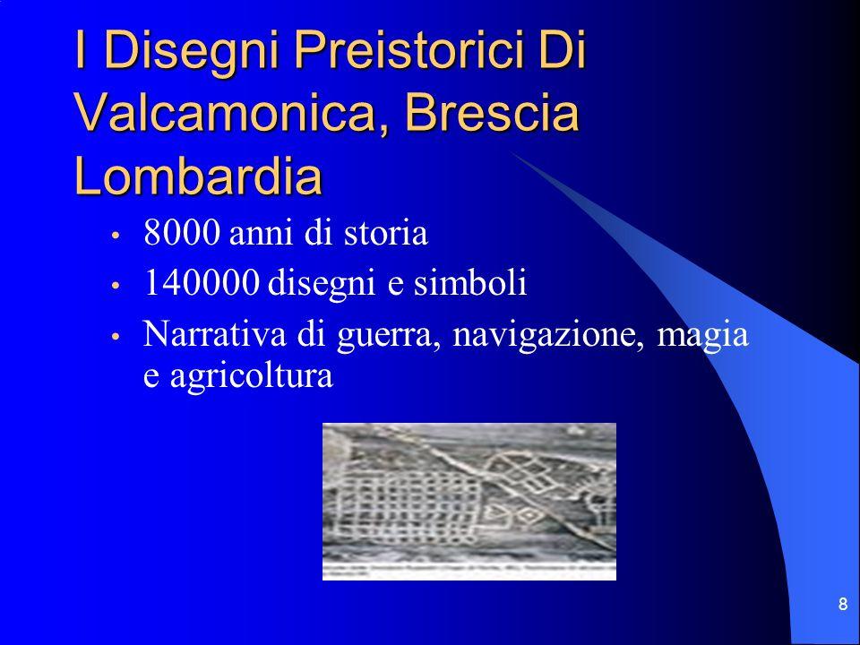 8 I Disegni Preistorici Di Valcamonica, Brescia Lombardia 8000 anni di storia 140000 disegni e simboli Narrativa di guerra, navigazione, magia e agric