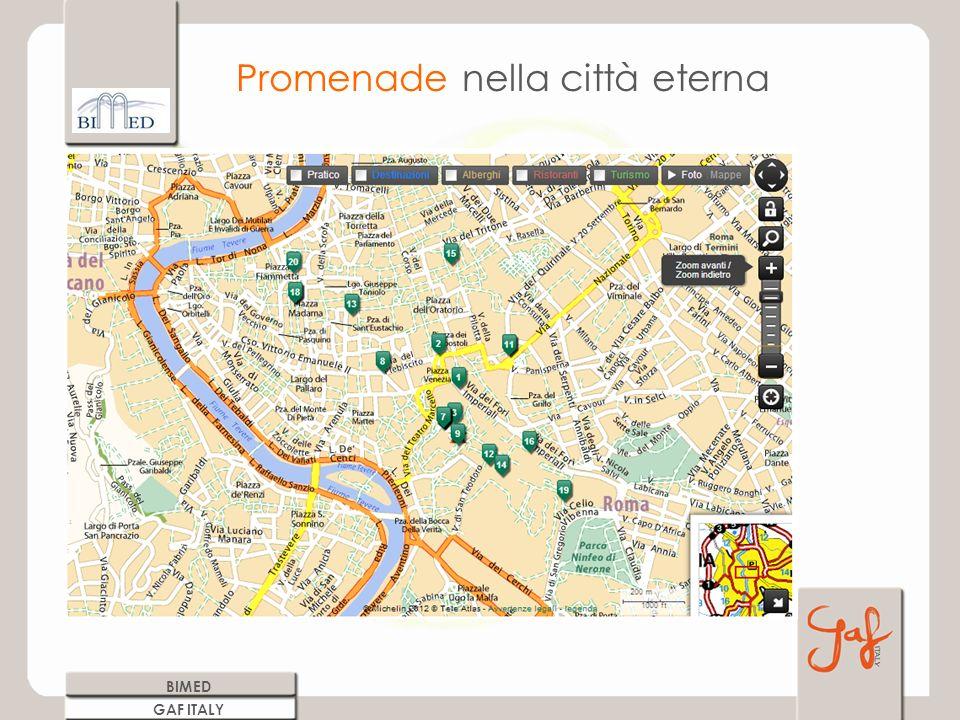 Promenade nella città eterna BIMED GAF ITALY