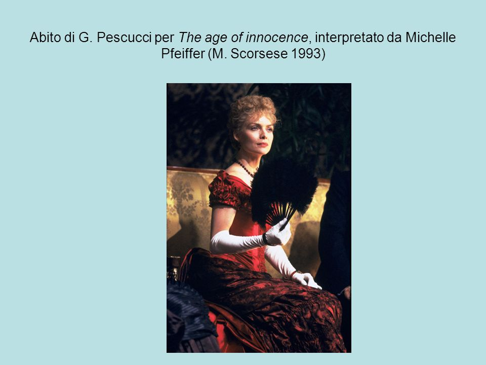 Abito di G. Pescucci per The age of innocence, interpretato da Michelle Pfeiffer (M. Scorsese 1993)