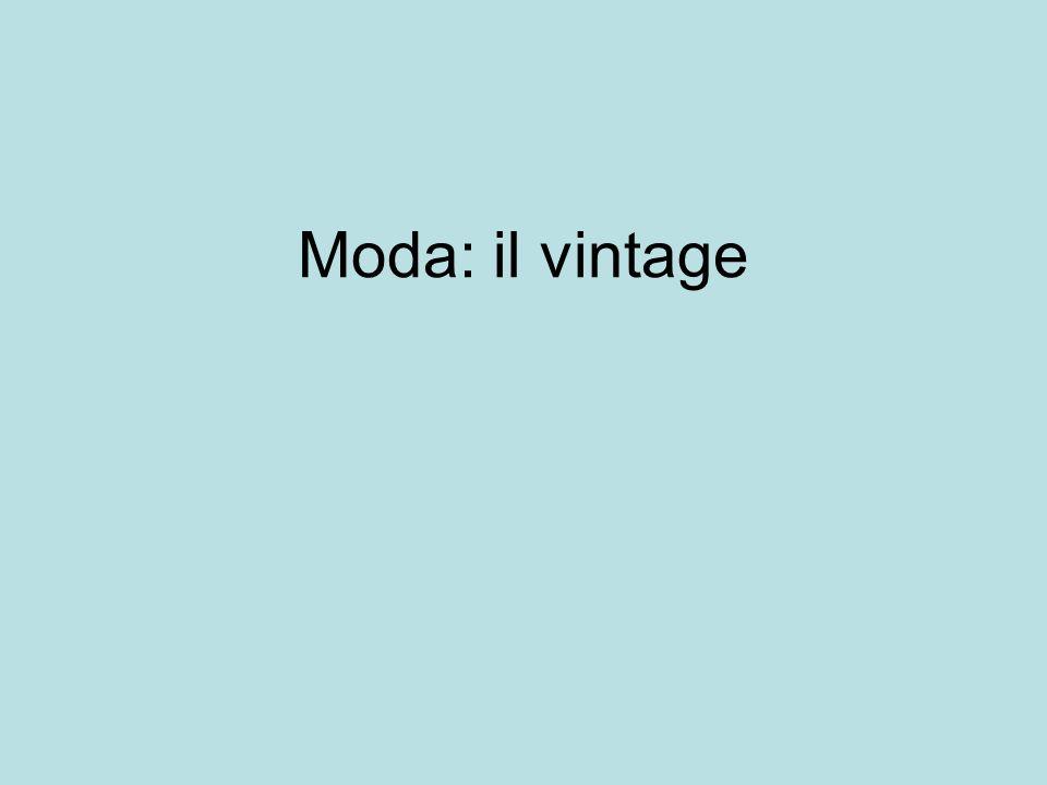 Moda: il vintage