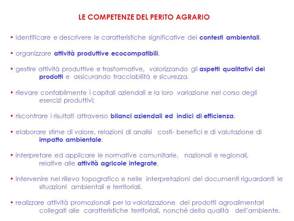 identificare e descrivere le caratteristiche significative dei contesti ambientali.