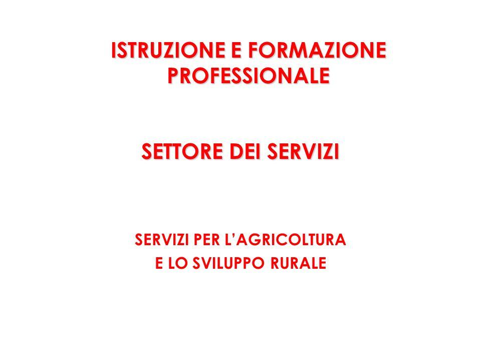 ISTRUZIONE E FORMAZIONE PROFESSIONALE SETTORE DEI SERVIZI SERVIZI PER LAGRICOLTURA E LO SVILUPPO RURALE