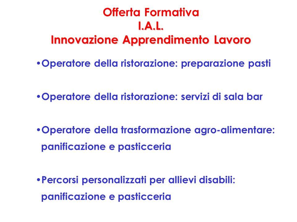 I.A.L. Innovazione Apprendimento Lavoro Offerta Formativa I.A.L.