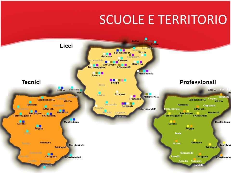 SCUOLE E TERRITORIO Licei TecniciProfessionali