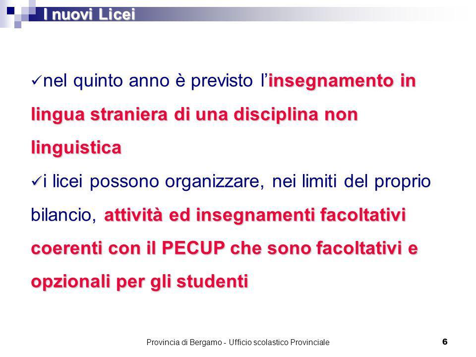 Provincia di Bergamo - Ufficio scolastico Provinciale 17 Liceo Scientifico