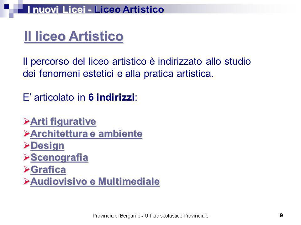 Provincia di Bergamo - Ufficio scolastico Provinciale 70 LICEO ARTISTICO DESIGN
