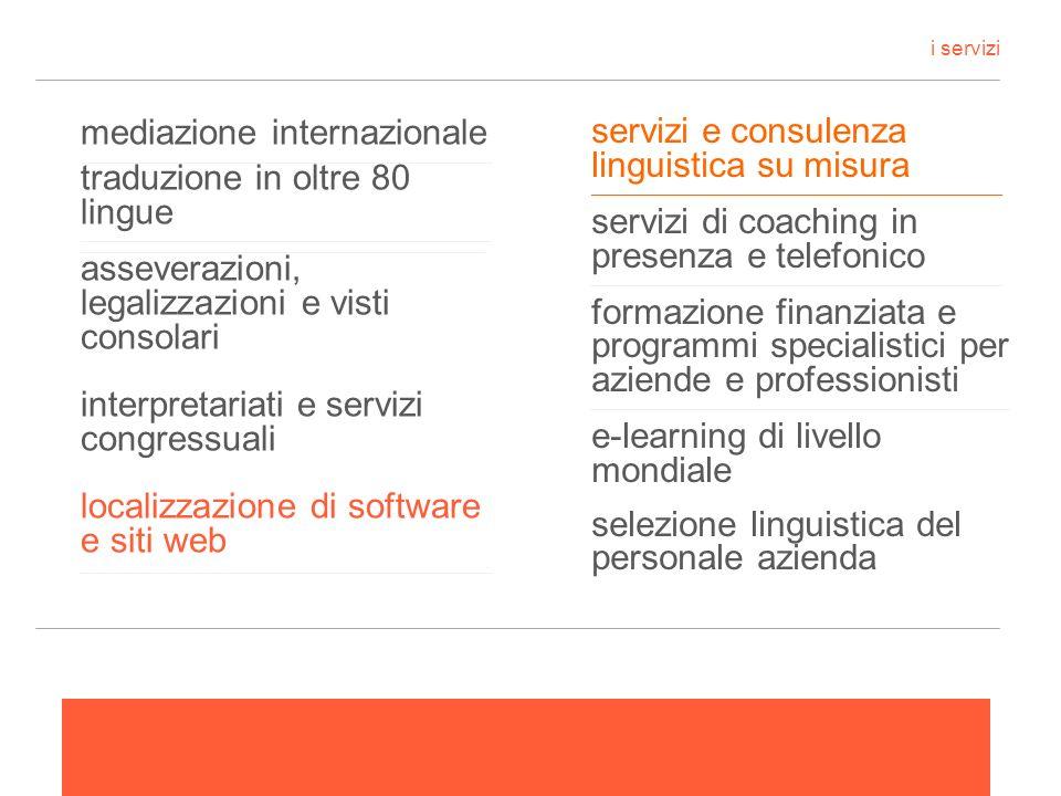 servizi e consulenza linguistica su misura ______________________________________________________________ servizi di coaching in presenza e telefonico
