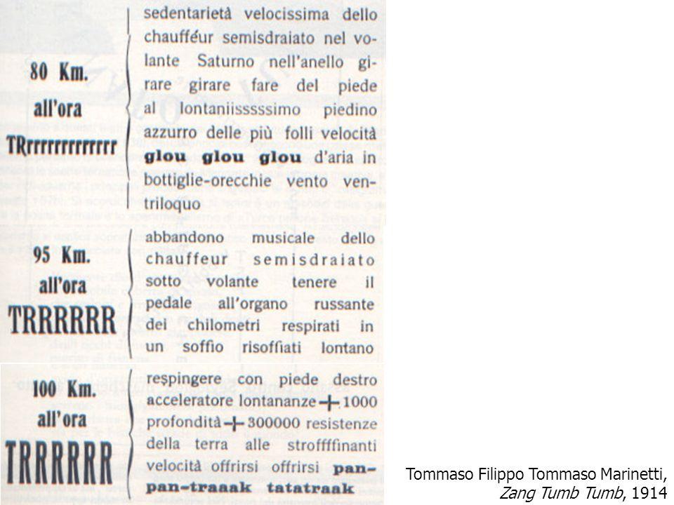 Tommaso Filippo Tommaso Marinetti, Zang Tumb Tumb, 1914