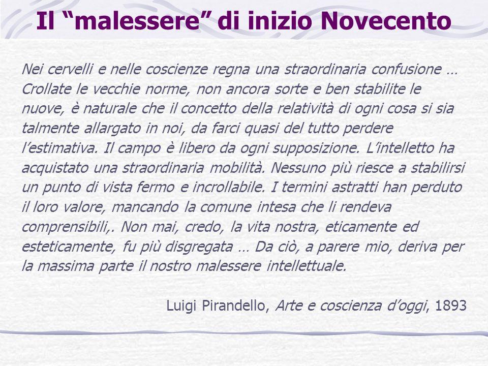Le posizioni degli intellettuali italiani Futuristi: tendono a risolvere la crisi storica e intellettuale in un frenetico attivismo, nellesaltazione incondizionata della civiltà industriale, nella celebrazione della macchina e della velocità.