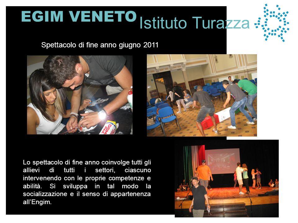 EGIM VENETO Lo spettacolo di fine anno coinvolge tutti gli allievi di tutti i settori, ciascuno intervenendo con le proprie competenze e abilità.