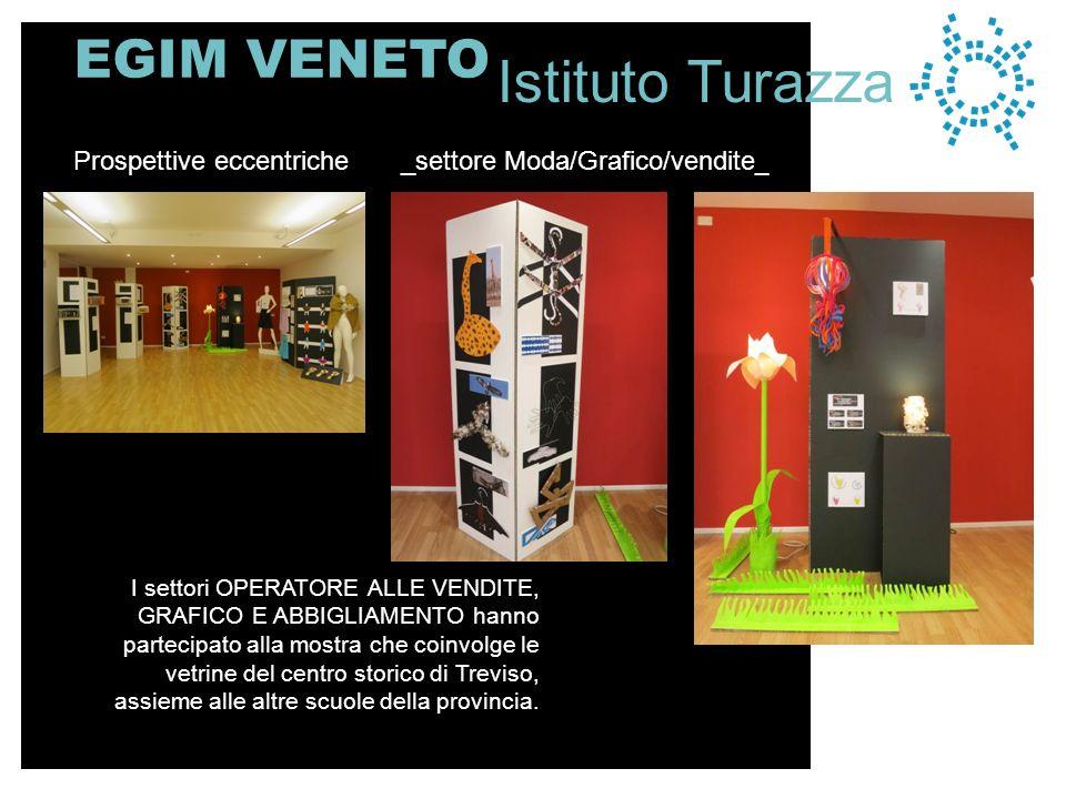 EGIM VENETO I settori OPERATORE ALLE VENDITE, GRAFICO E ABBIGLIAMENTO hanno partecipato alla mostra che coinvolge le vetrine del centro storico di Treviso, assieme alle altre scuole della provincia Prospettive eccentriche _settore Moda/Grafico/vendite__ Istituto Turazza