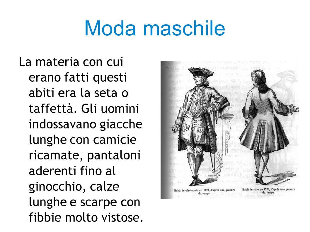 LA MODA SETTECENTESCA NE:LA LOCANDIERA Gli abiti e gli accessori della rappresentazione rispecchiano quelli usati nell epoca in cui la storia è ambientata.