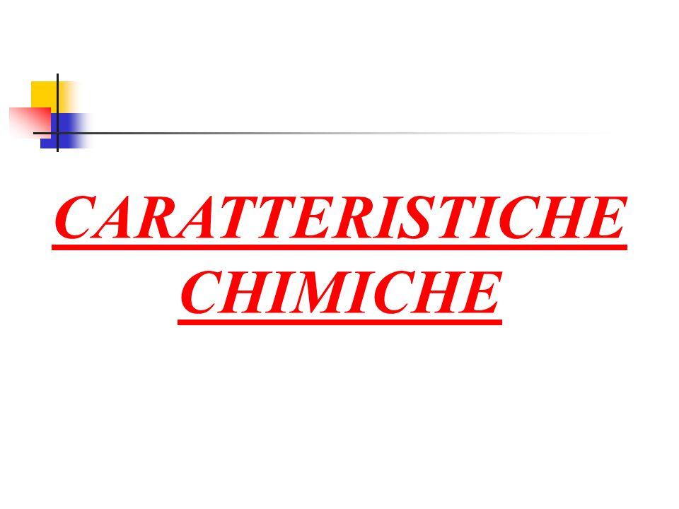 CARATTERISTICHE CHIMICHE