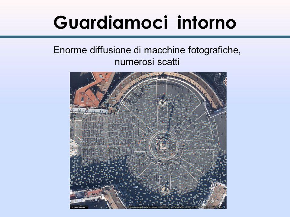Guardiamoci intorno Enorme diffusione di macchine fotografiche, numerosi scatti
