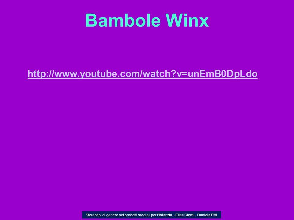 Bambole Winx Stereotipi di genere nei prodotti mediali per linfanzia - Elisa Giomi - Daniela Pitti http://www.youtube.com/watch?v=unEmB0DpLdo