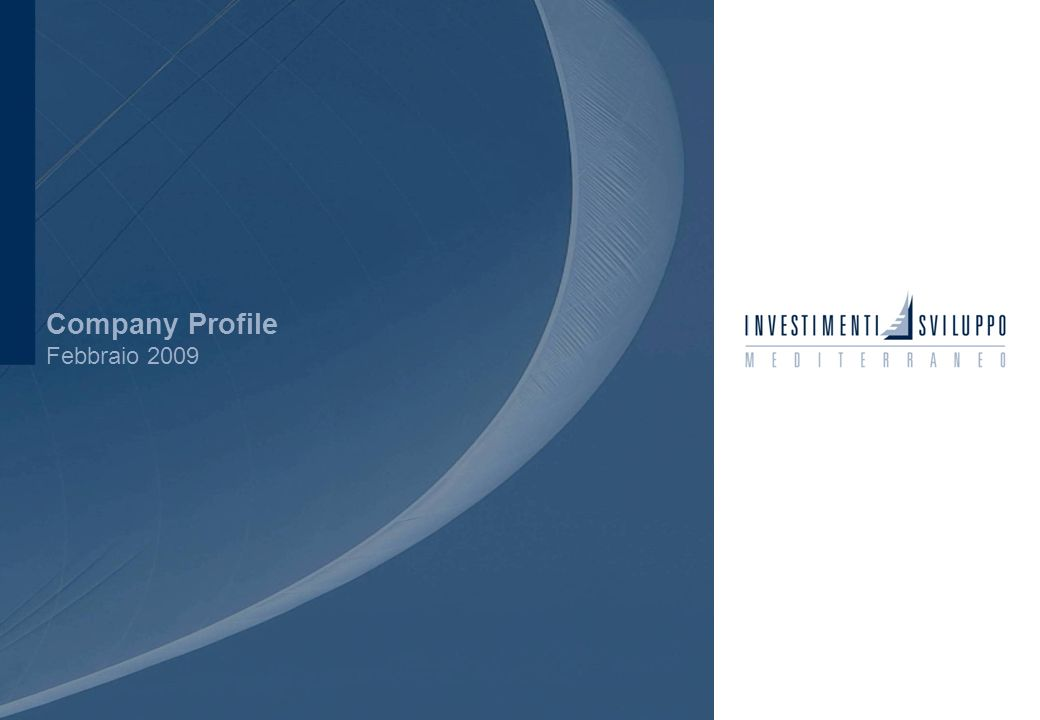 1 Company Profile Febbraio 2009