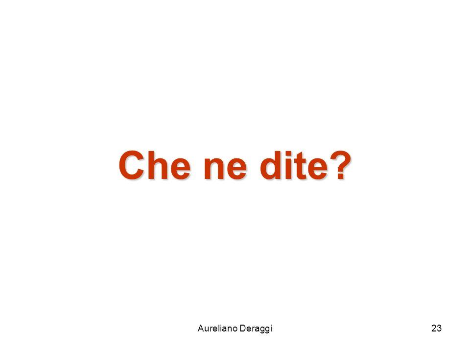 Aureliano Deraggi23 Che ne dite?