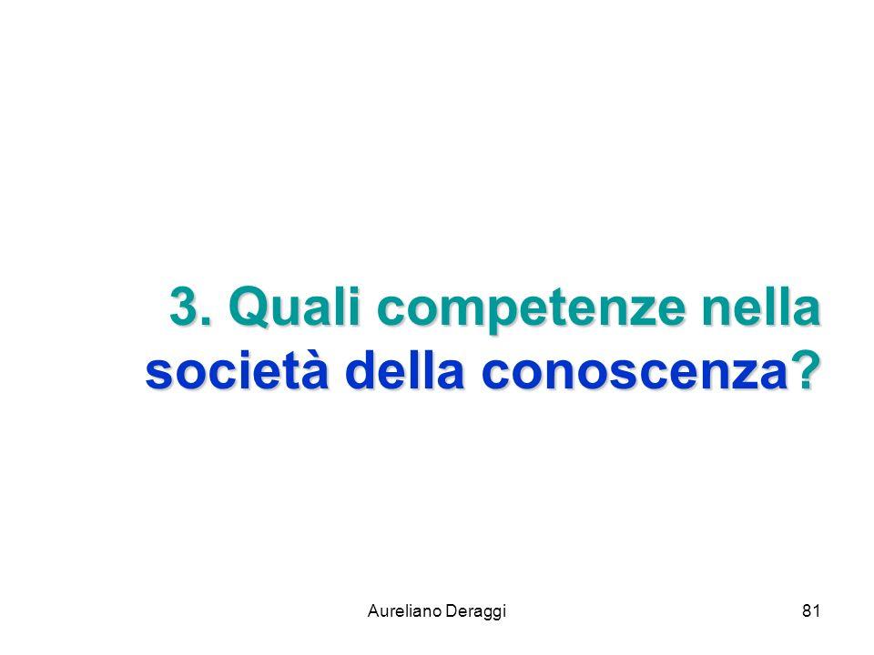 Aureliano Deraggi81 3. Quali competenze nella società della conoscenza?