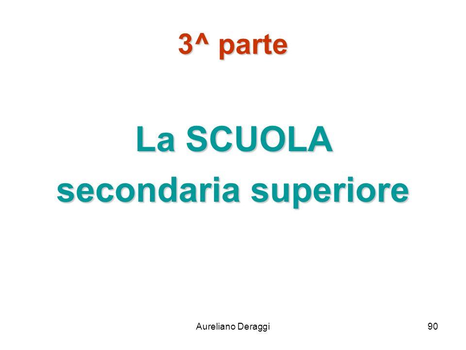 Aureliano Deraggi90 3^ parte La SCUOLA secondaria superiore