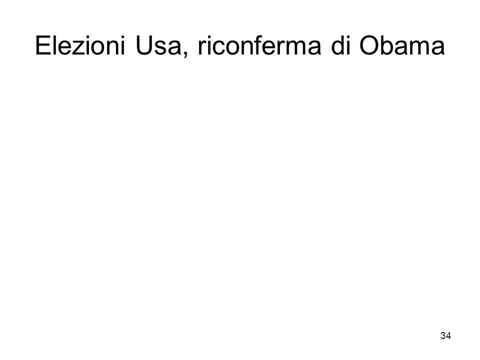 34 Elezioni Usa, riconferma di Obama