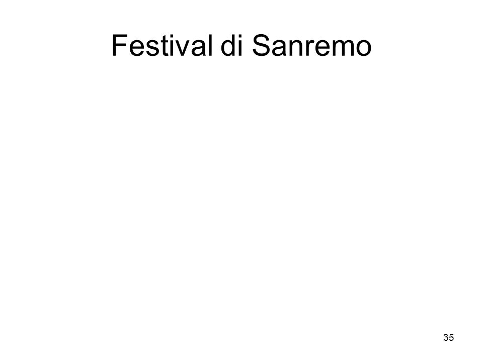 35 Festival di Sanremo