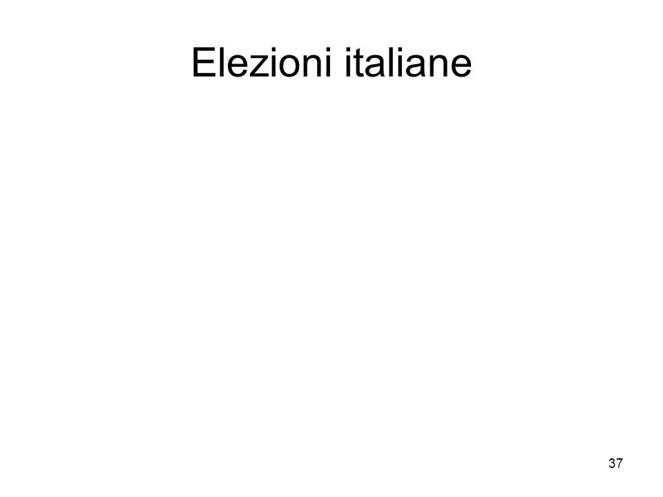 37 Elezioni italiane