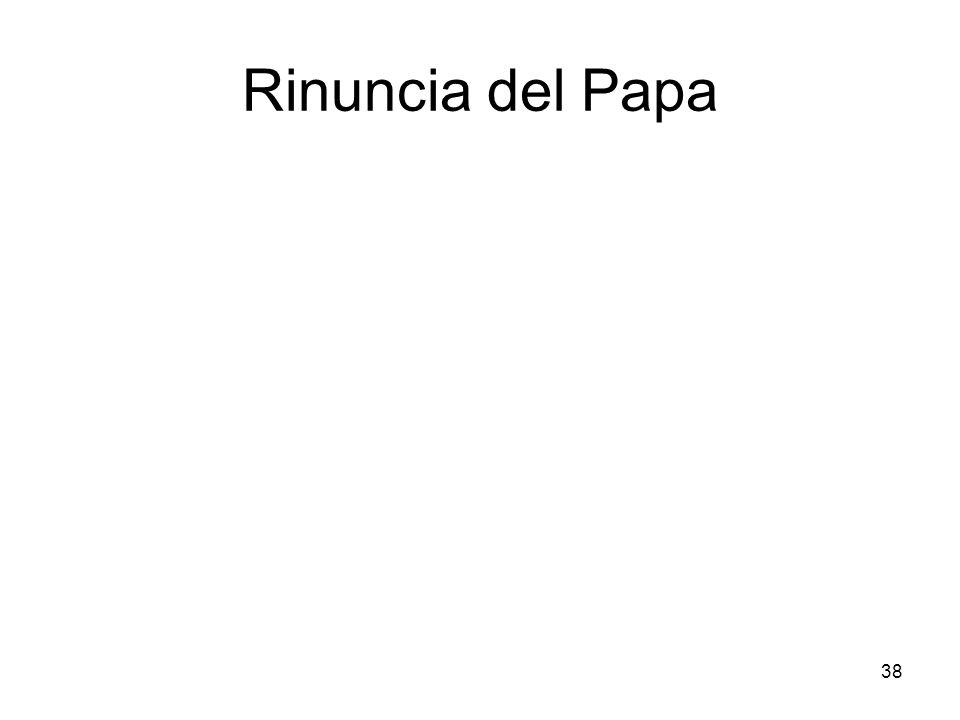 38 Rinuncia del Papa