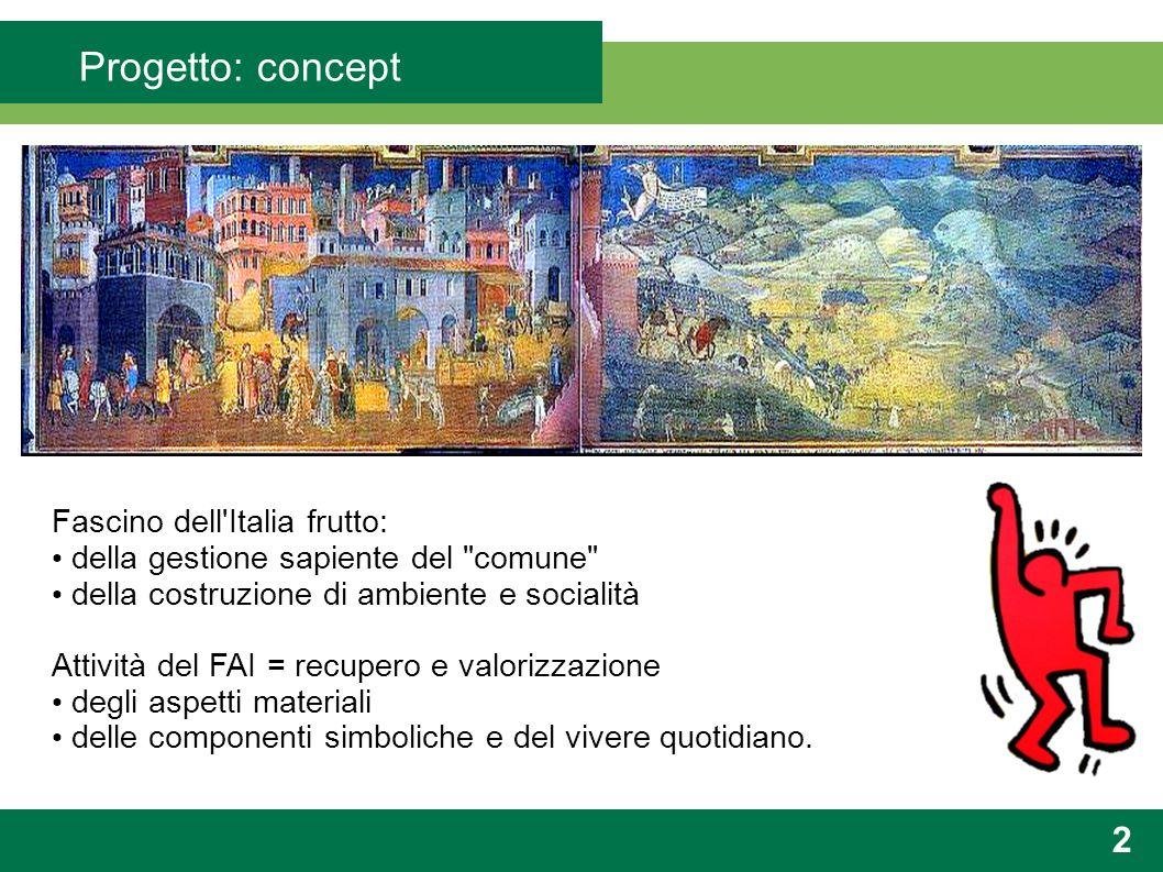 Progetto: concept 3 Focus sull apetto user-centrico e conativo + valorizzazione del logo