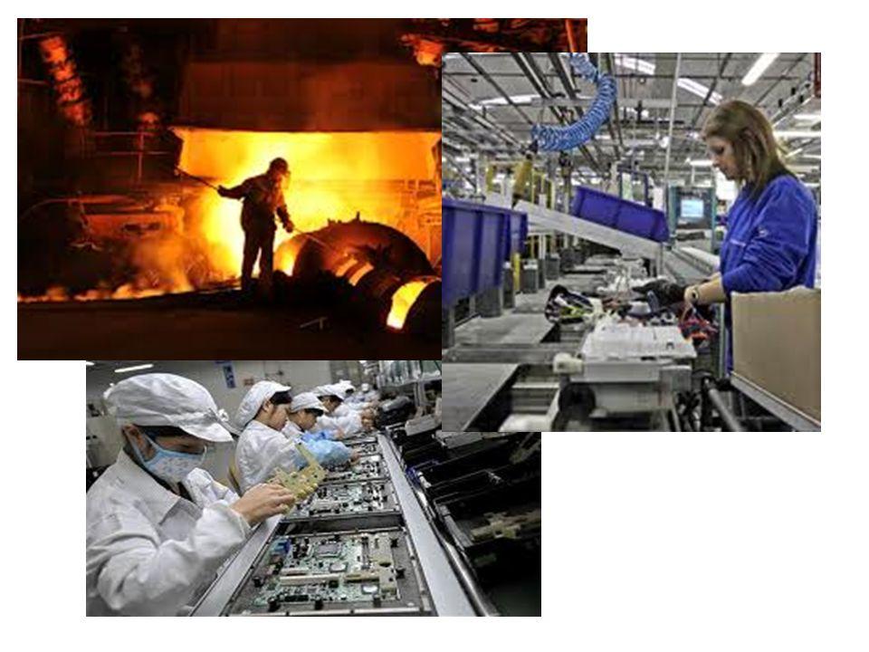 In Europa sono presenti tutti i più importanti settori industriali (siderurgico, metallurgico, meccanico, chimico, tessile, alimentare, farmaceutico, elettronico, ecc.).