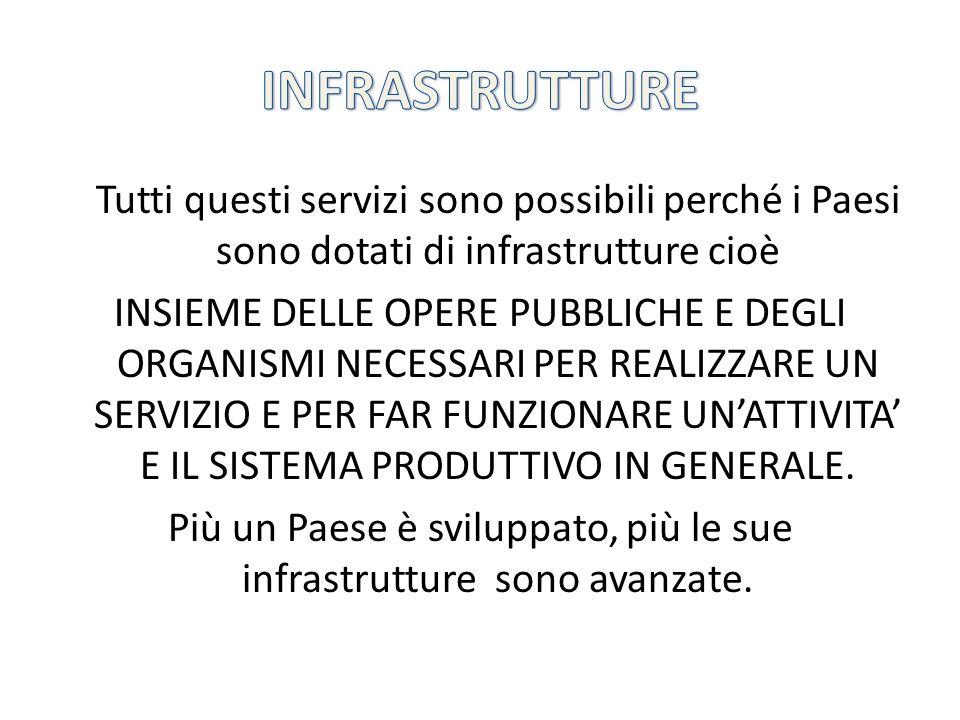 Per infrastrutture intendiamo quindi: Organi e strutture della Pubblica Amministrazione (polizia, comuni, scuole, ospedali …).