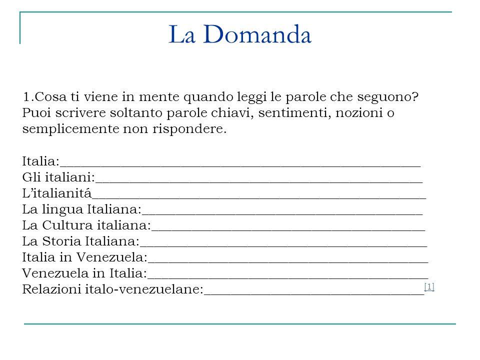 Segue… Attivitá scritta in gruppo: Con le seguenti parole cerca di definire italianitá, Italia o Italiano.