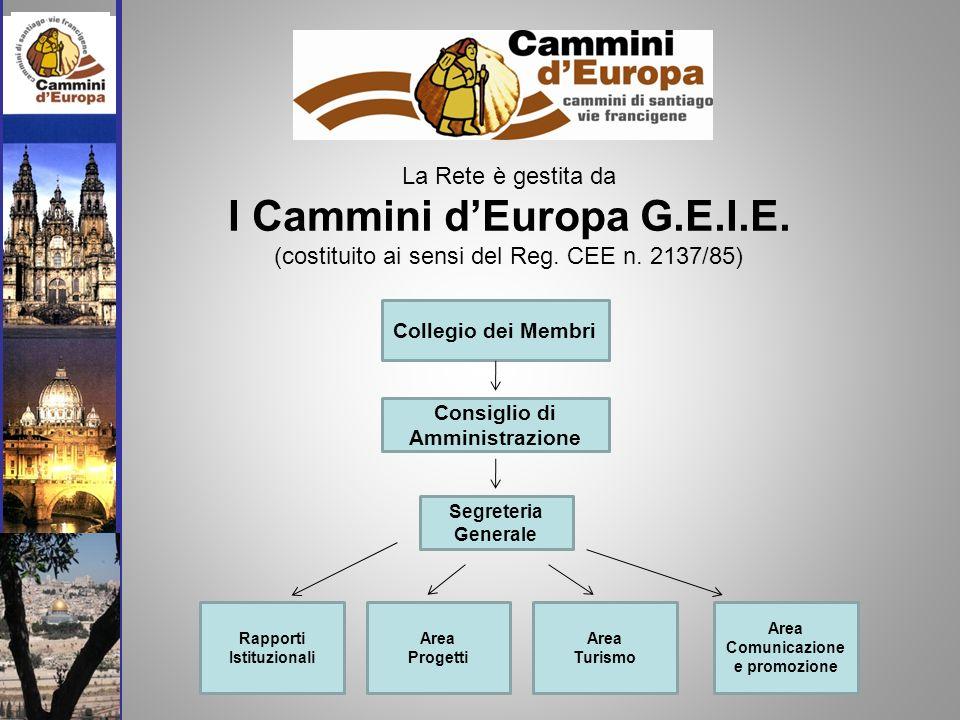 La Rete è gestita da I Cammini dEuropa G.E.I.E. (costituito ai sensi del Reg.