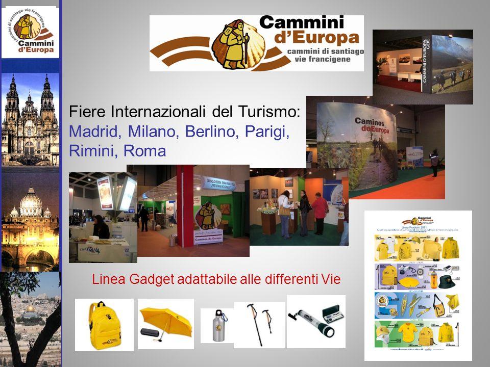 Linea Gadget adattabile alle differenti Vie Fiere Internazionali del Turismo: Madrid, Milano, Berlino, Parigi, Rimini, Roma