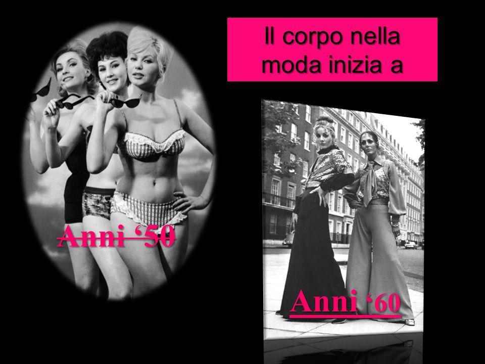 Il corpo nella moda inizia a cambiare.. Anni 50 Anni 60