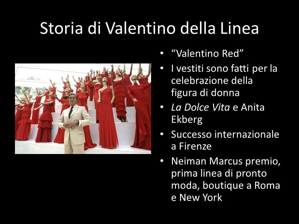 Storia di Valentino della Linea Valentino Red I vestiti sono fatti per la celebrazione della figura di donna La Dolce Vita e Anita Ekberg Successo int