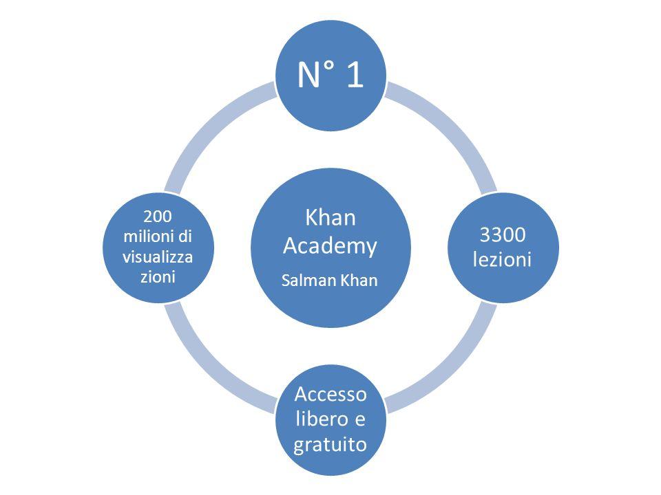 Khan Academy Salman Khan N° 1 3300 lezioni Accesso libero e gratuito 200 milioni di visualizza zioni