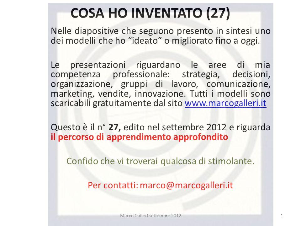 COSA HO INVENTATO (27) Nelle diapositive che seguono presento in sintesi uno dei modelli che ho ideato o migliorato fino a oggi.