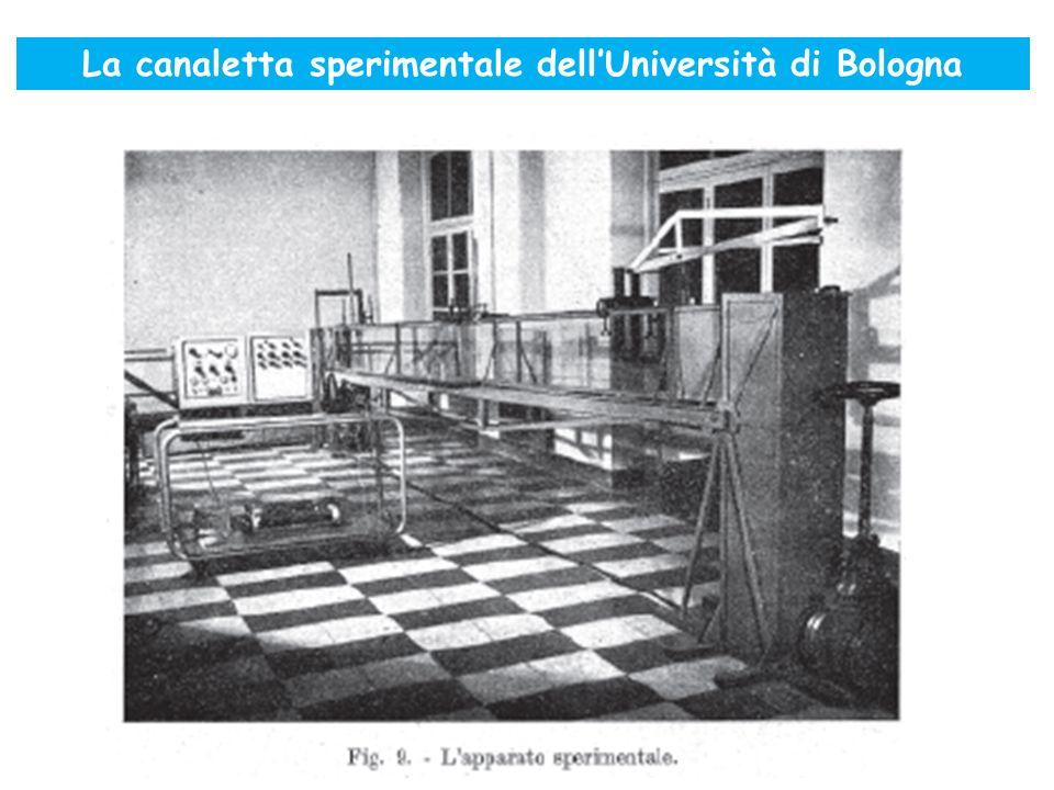 La canaletta sperimentale dellUniversità di Bologna