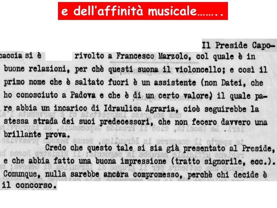 e dellaffinità musicale……..