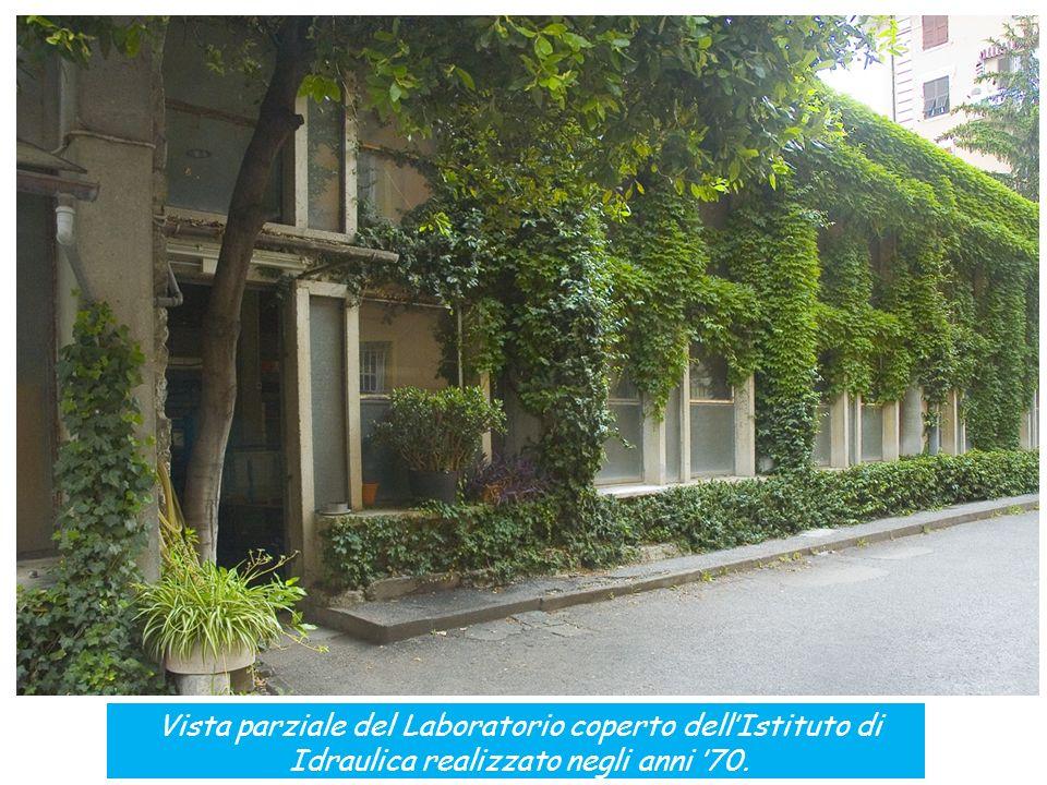 Vista parziale del Laboratorio coperto dellIstituto di Idraulica realizzato negli anni 70.