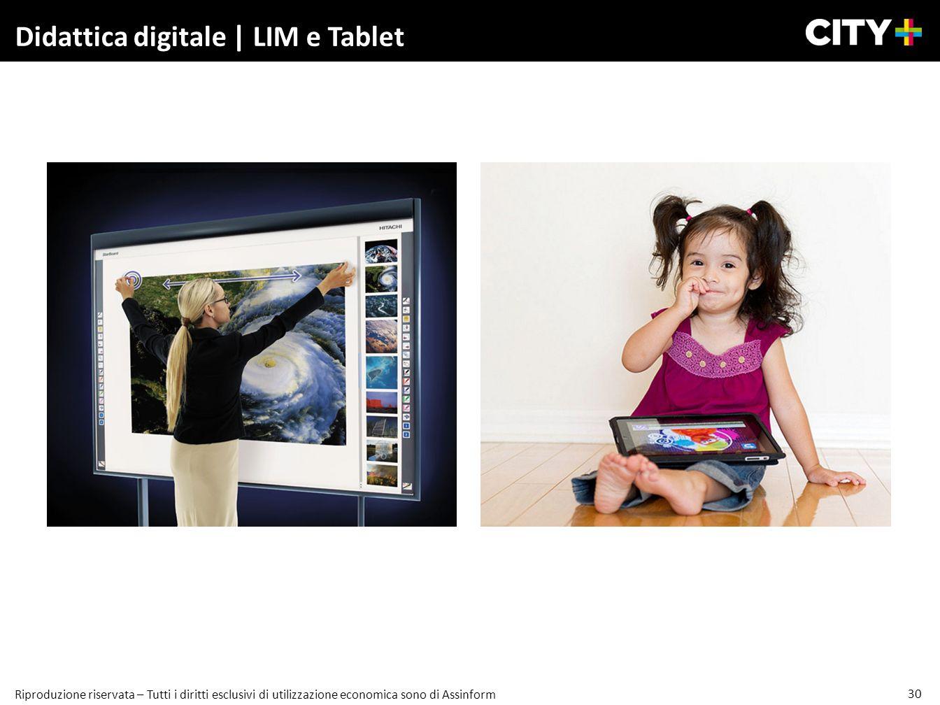 30 Riproduzione riservata – Tutti i diritti esclusivi di utilizzazione economica sono di Assinform Didattica digitale | LIM e Tablet